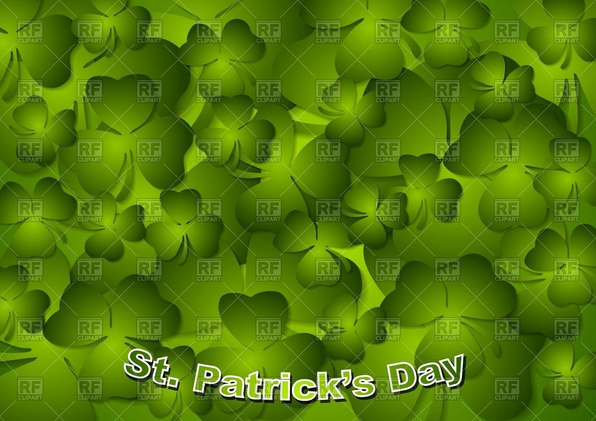 St Patricks Day   background with green shamrocks Vector 1200x849