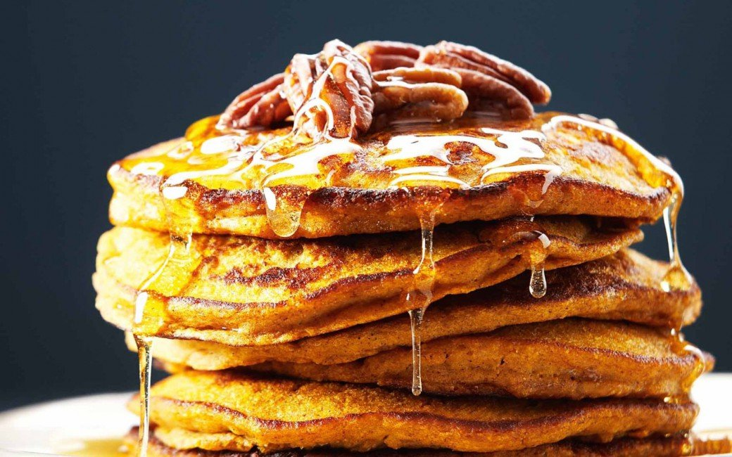 Pancakes Honey Sweet Nuts   Stock Photos Images HD 1040x650