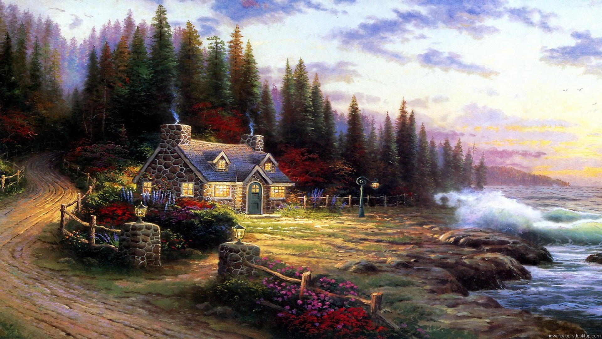 thomas kinkade wallpaper 1920x1080 - photo #4