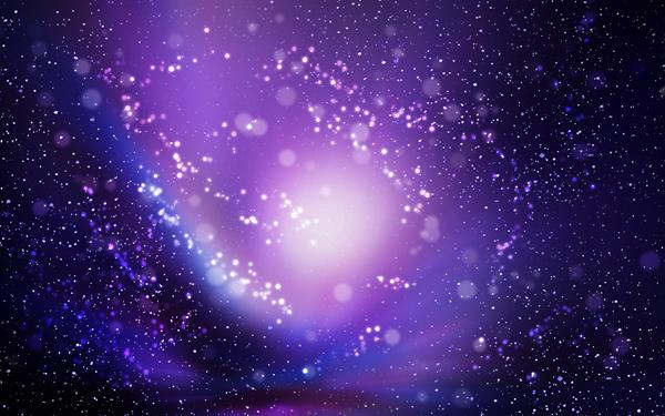 Full HD Wallpapers + Space, Auroras, Stars, Blue, Purple