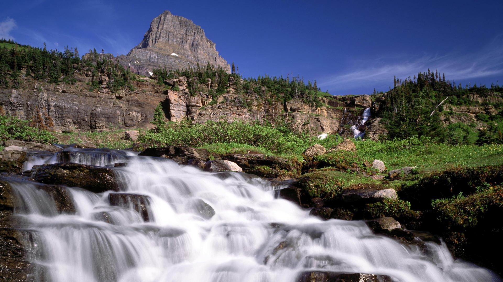 backgrounds park montana national glacier mountain cascade cool 1920x1080