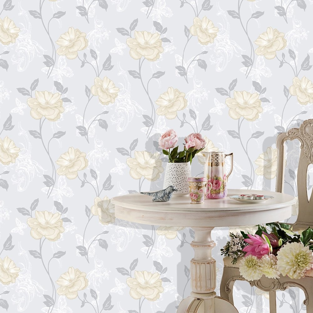 Home Wallpaper Crown Crown Millie Floral Wallpaper Natural 1000x1000