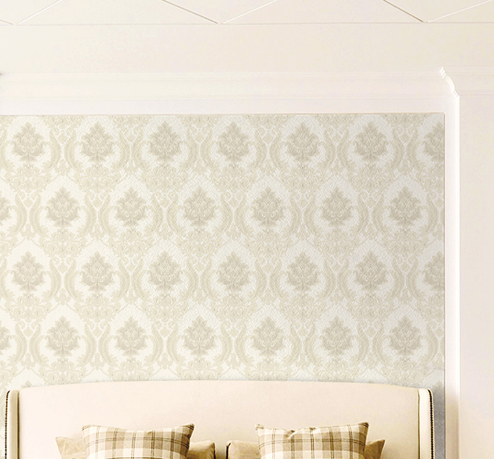 Charlton Home Pudsey Damask 33 L x 21 W Wallpaper Roll Wayfair 1008x936