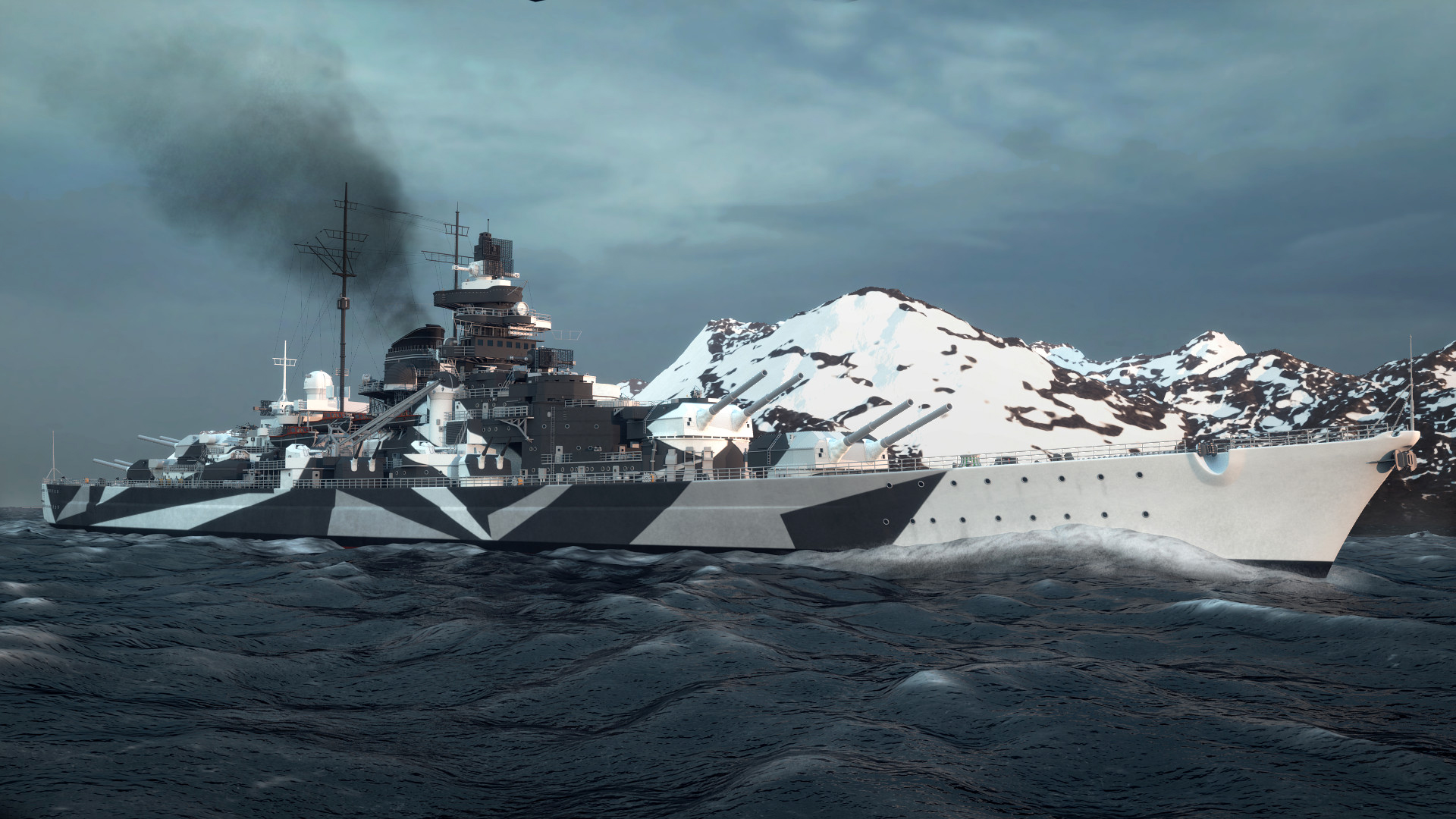 Artwork Battleships History Military Tirpitz Battleship World War II 1920x1080