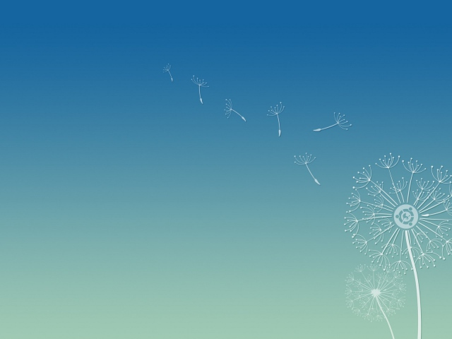 Dandelion seeds background Ubuntu wallpapers and images 640x480
