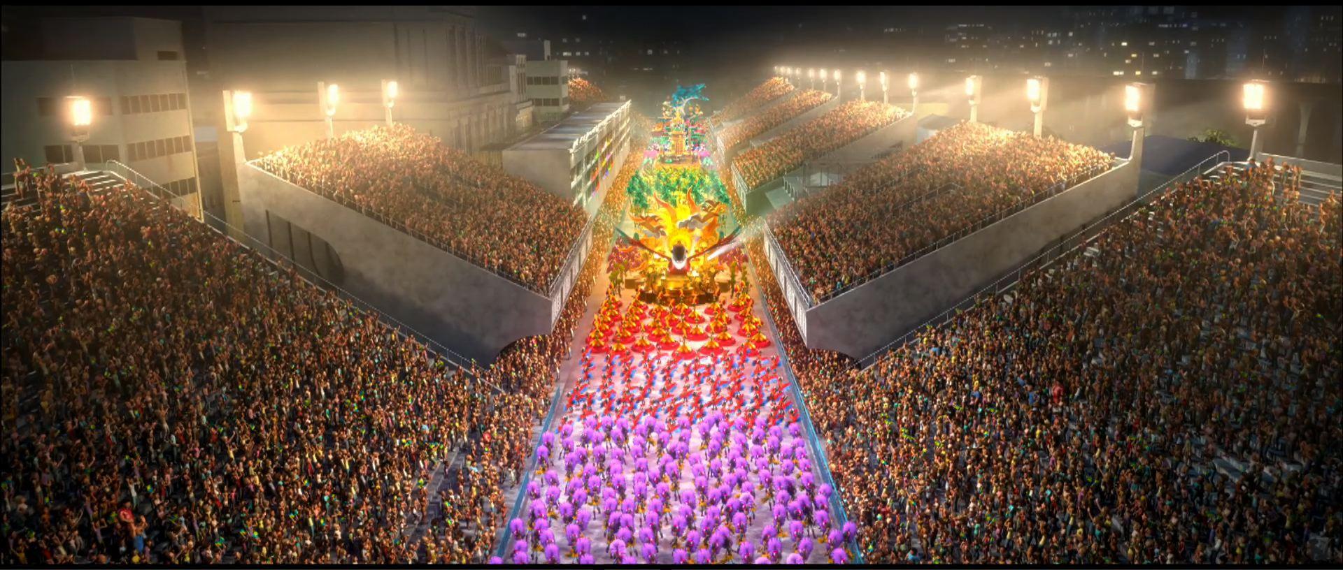 Carnival Parade in Rio de Janeiro Desktop Wallpaper 1920x816