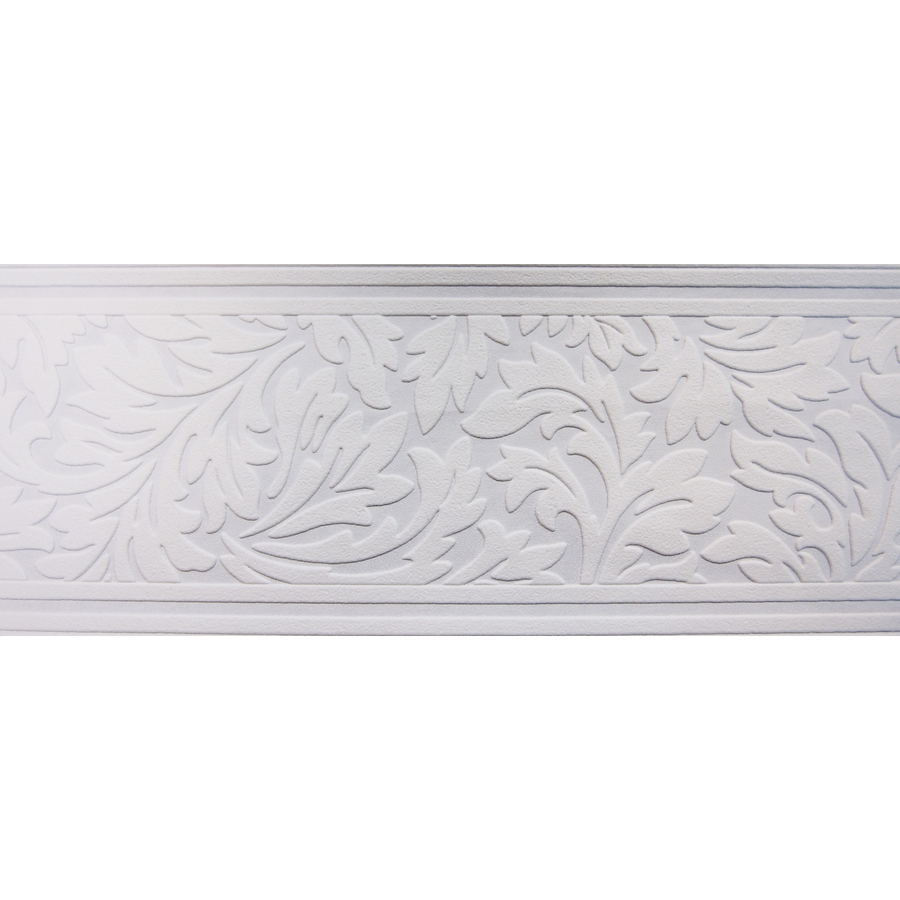Shop allen roth 7 in White Unpasted Wallpaper Border at Lowescom 900x900