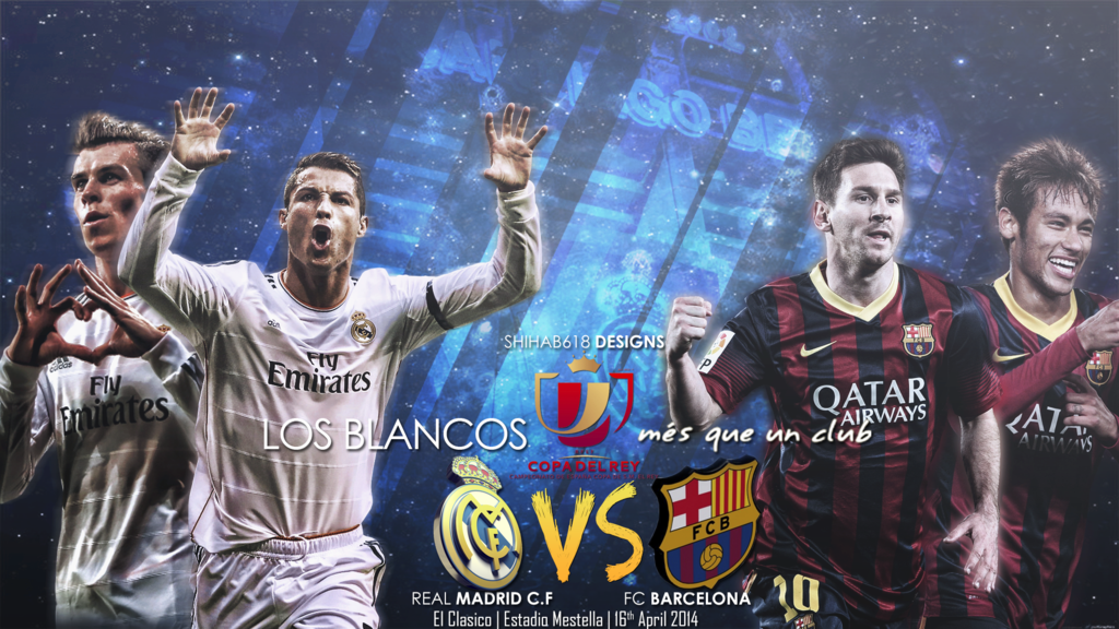 Real Madrid VS Fc Barcelona by Shihab618 1024x576
