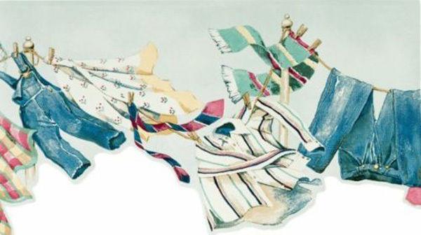 Clothesline Wallpaper Border Wallpapersafari