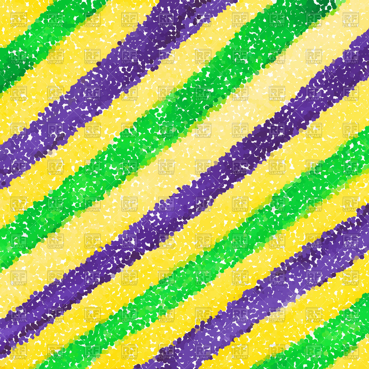 Mardi Gras dot background Vector Image of Backgrounds Textures 1200x1200