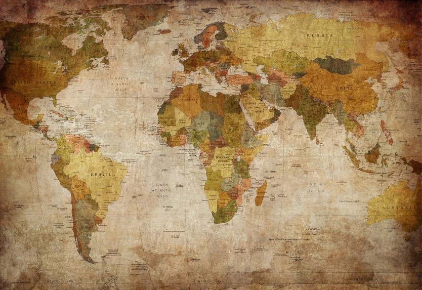 Product image for Wall mural World Map 834x573
