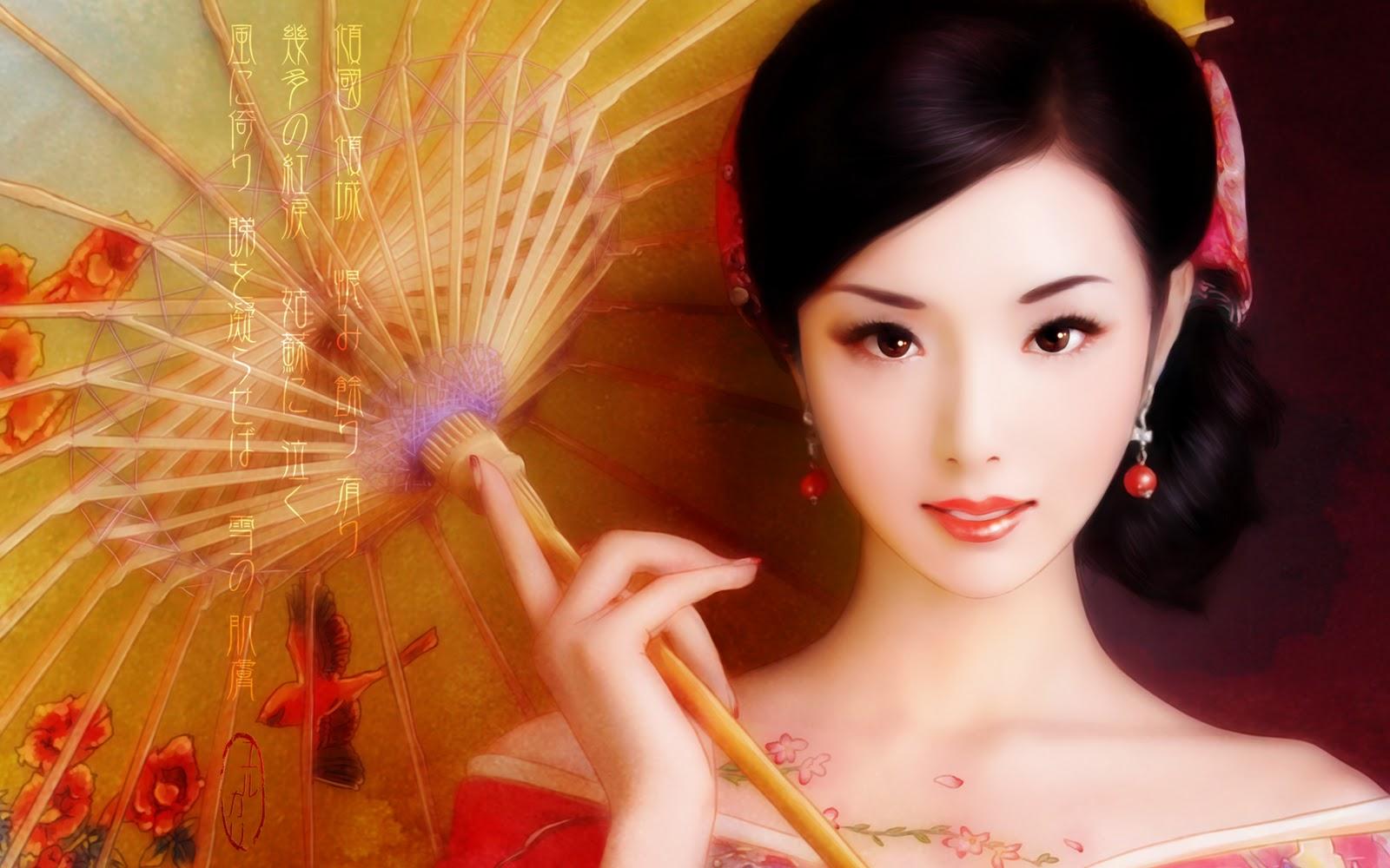 Kimono Beauty   Wallpaper by yurkaryjpg 1600x1000