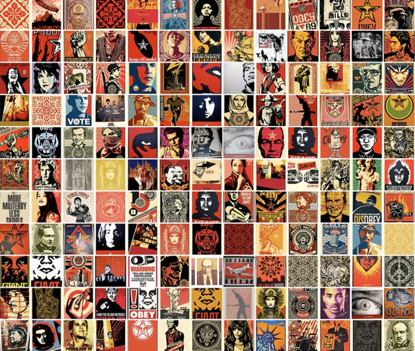 Obey Giant Collage Wallpaper 820x692