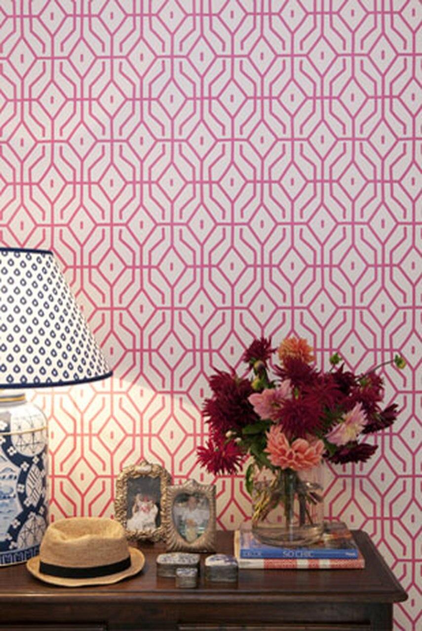 Anna Spiro Rosey Posey Trellis Wallpaper 855x1280