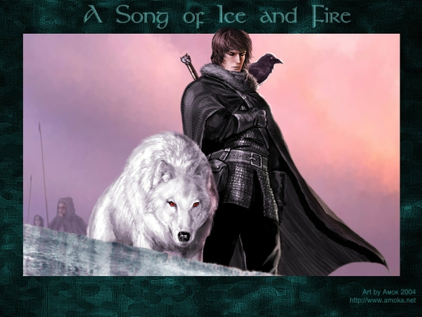 game of thrones a song of ice and fire jon snow wolves Wallpaper 600x450