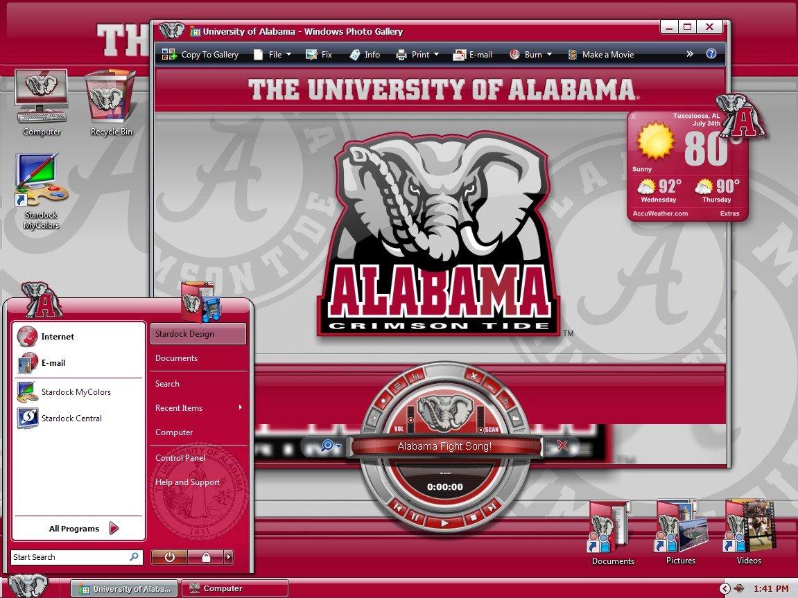 Mycolors University Of Alabama Desktop Screenshot 3 4 1151x863