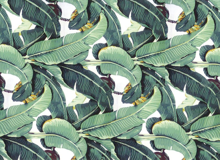 ve been checking out this classic wallpaper with banana leaf print 844x615