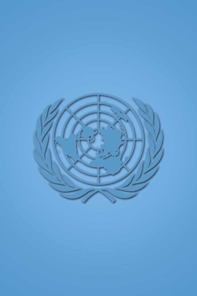 United Nation Logo iPhone Wallpaper HD 640x960