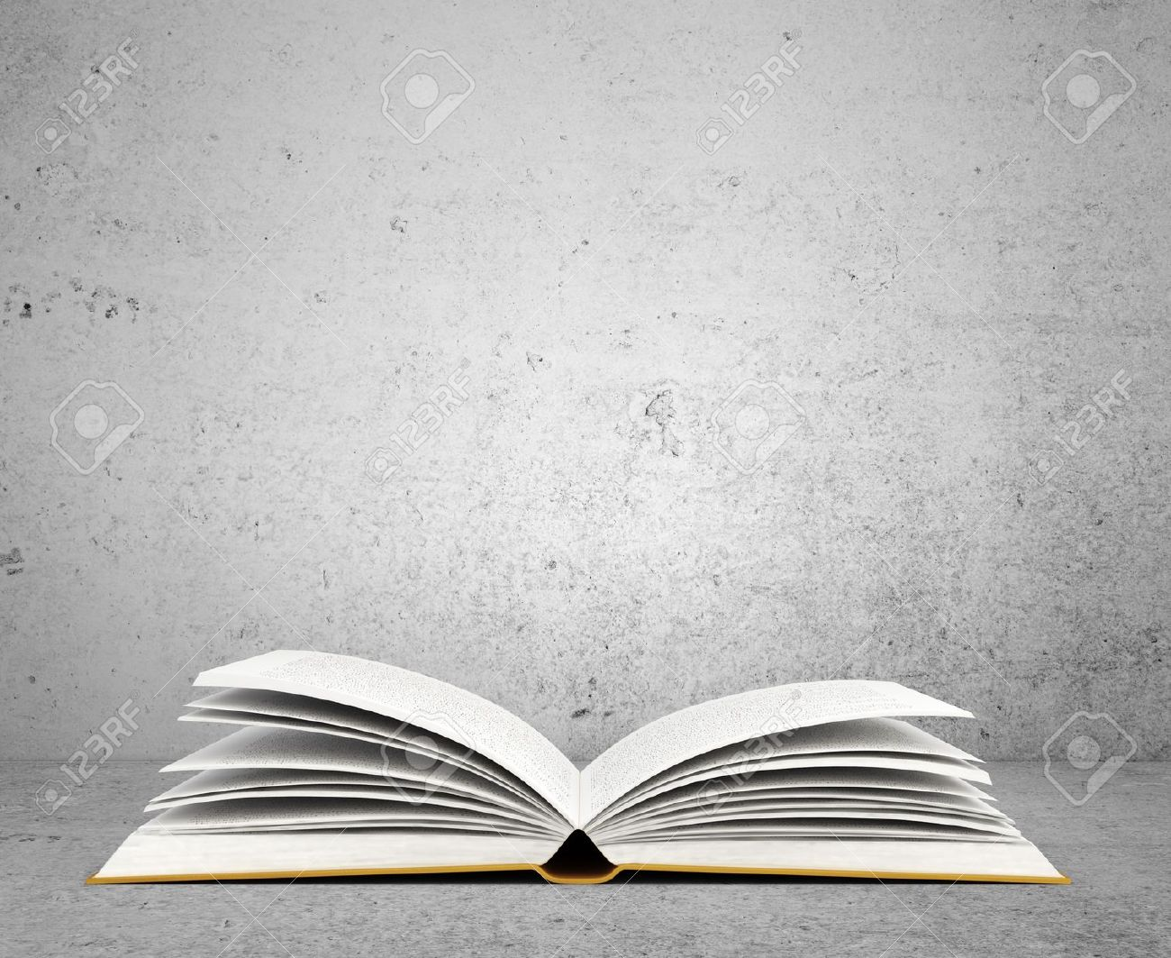 Open Book On Concrete Background Stock Photo Picture And Royalty 1300x1063