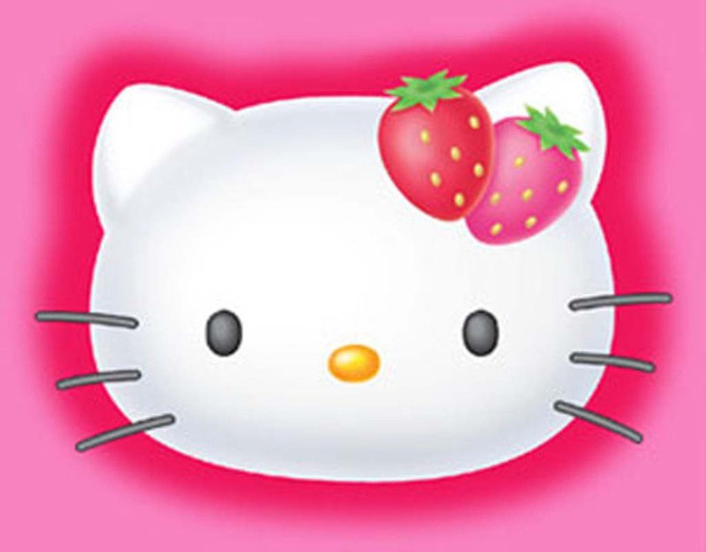 3D Hello Kitty Wallpaper 1024x800