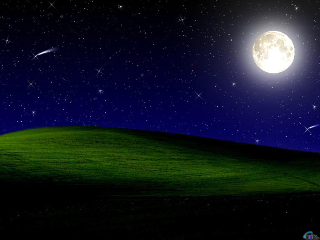 Free Download Wallpaper Night Moon Stars Quiet Night In The