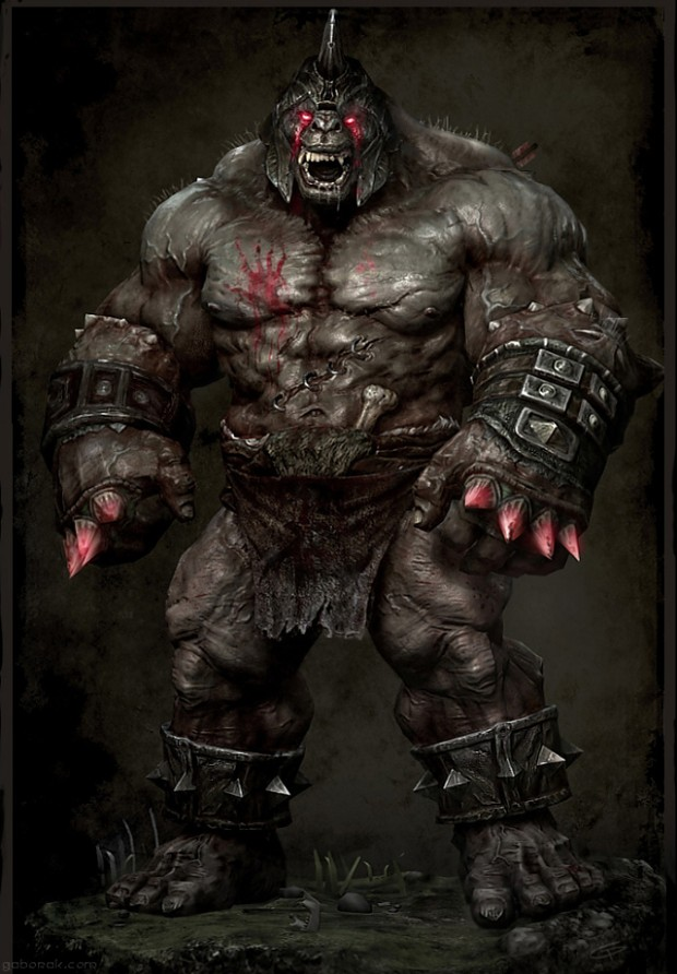 orc wallpaper great one image   Orc clan and Orks fantasy and monsters 620x892