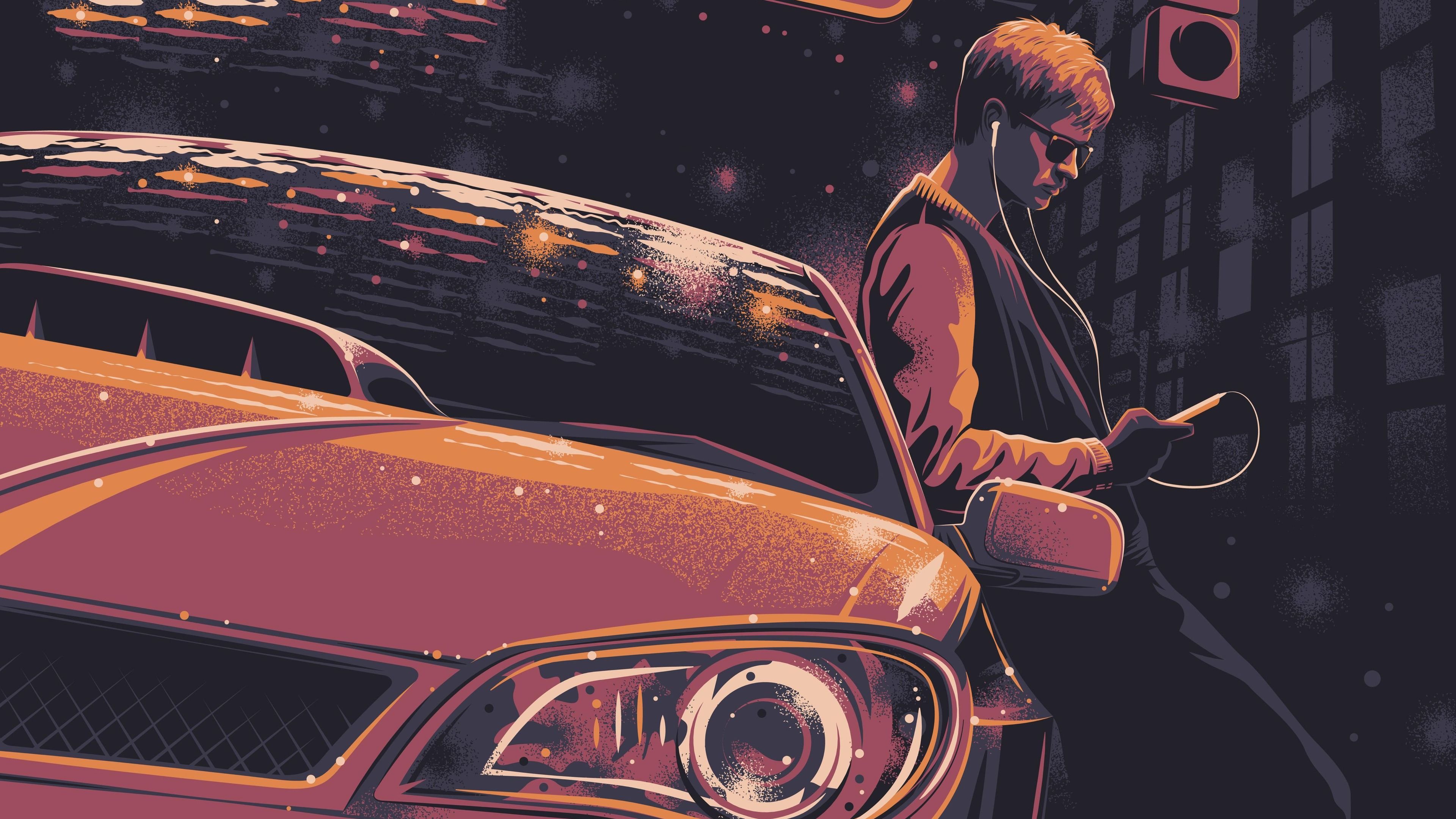 Wallpaper 4k Baby Driver 4k Art 2017 movies wallpapers 4k 3840x2160