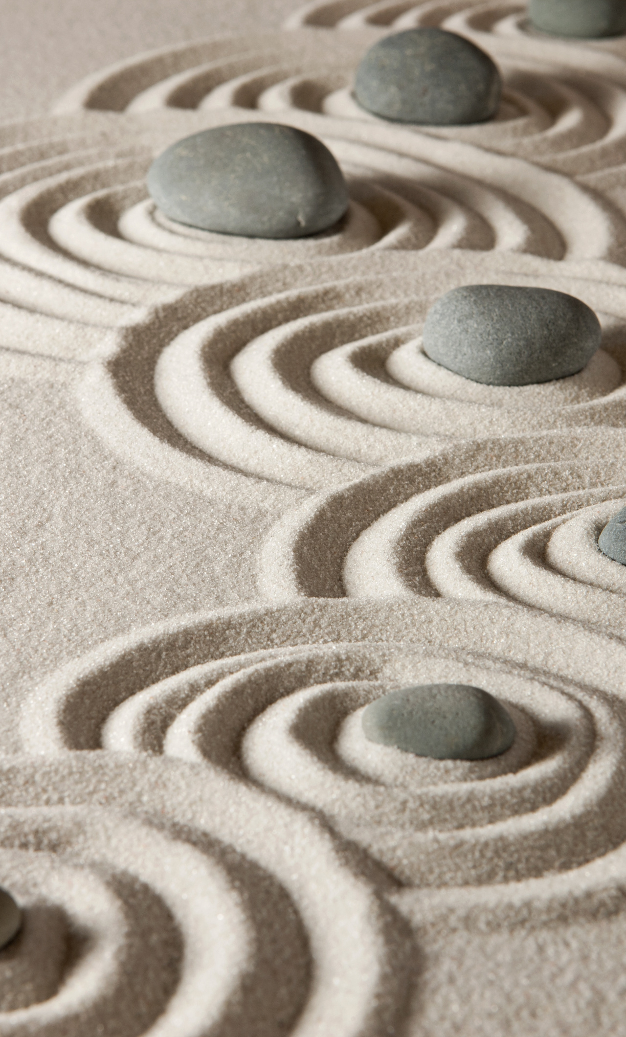 Download Stones and sand rocks zen pattern wallpaper 1280x2120