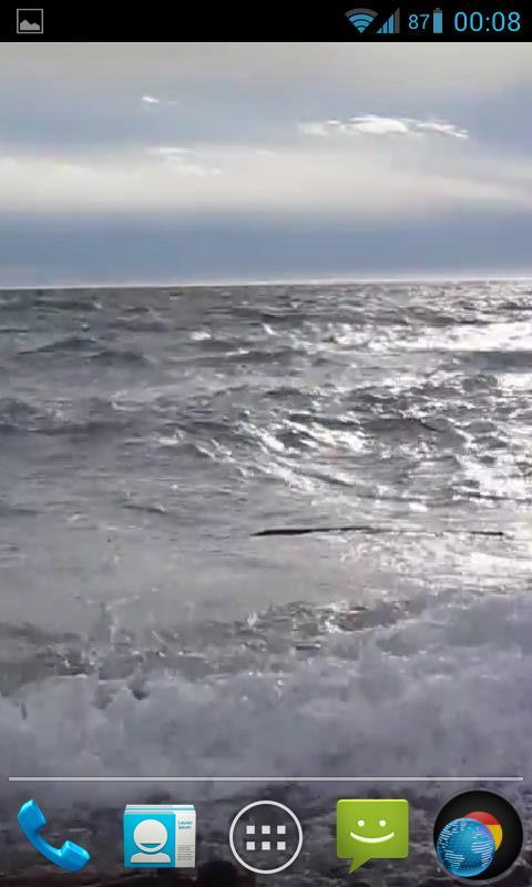 ocean waves live wallpaper hd with calming effect showing a blue ocean 480x800