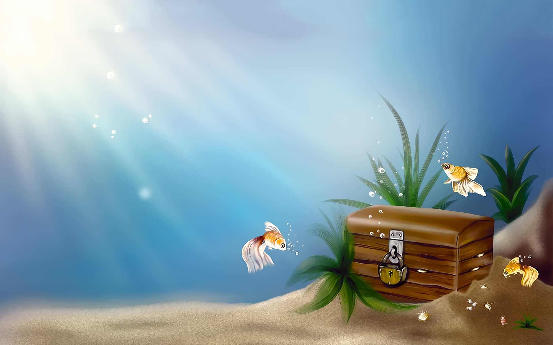 wallpapers other goldfish animated wallpaper 1920x1200