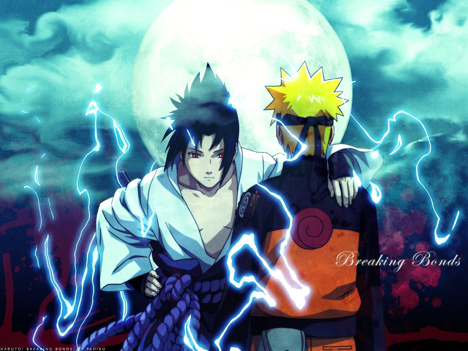 Uzumaki Naruto and Uchiha Sasuke HD Wallpaper 1600x1200