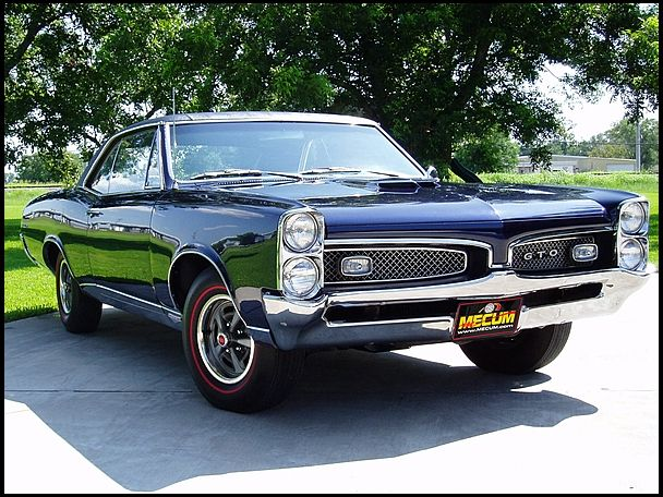 67 Pontiac GTO Mikes dads car from high school 608x456