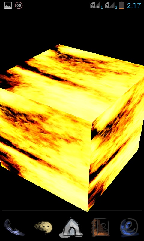 Download 3D Fire Cube Live Wallpaper for your Android phone 480x800