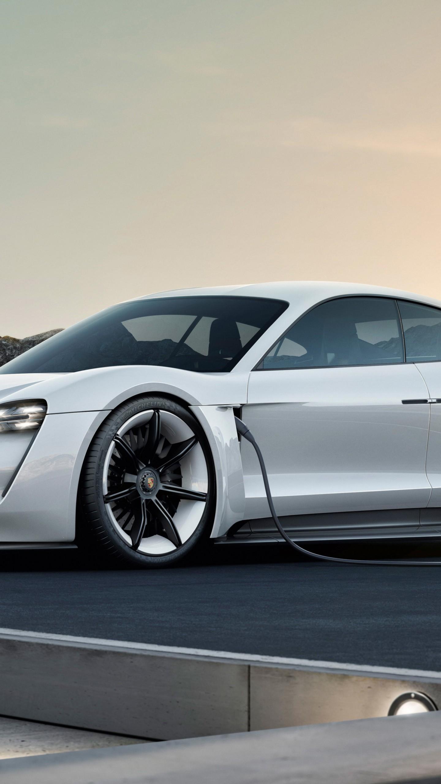 Wallpaper Porsche Taycan Electric Car supercar 2020 Cars 4K 1440x2560