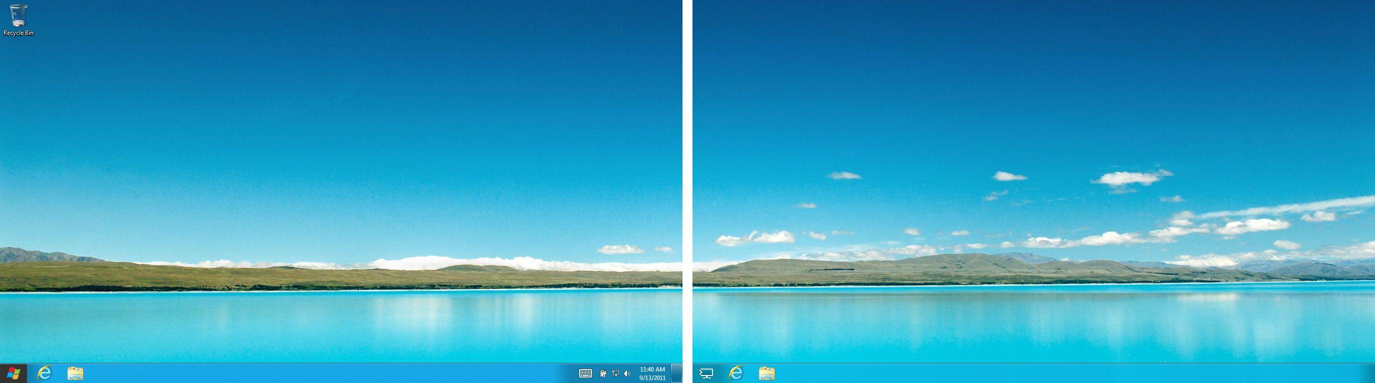 как сделать разные обои на двух рабочих столах windows 10 № 23133 загрузить