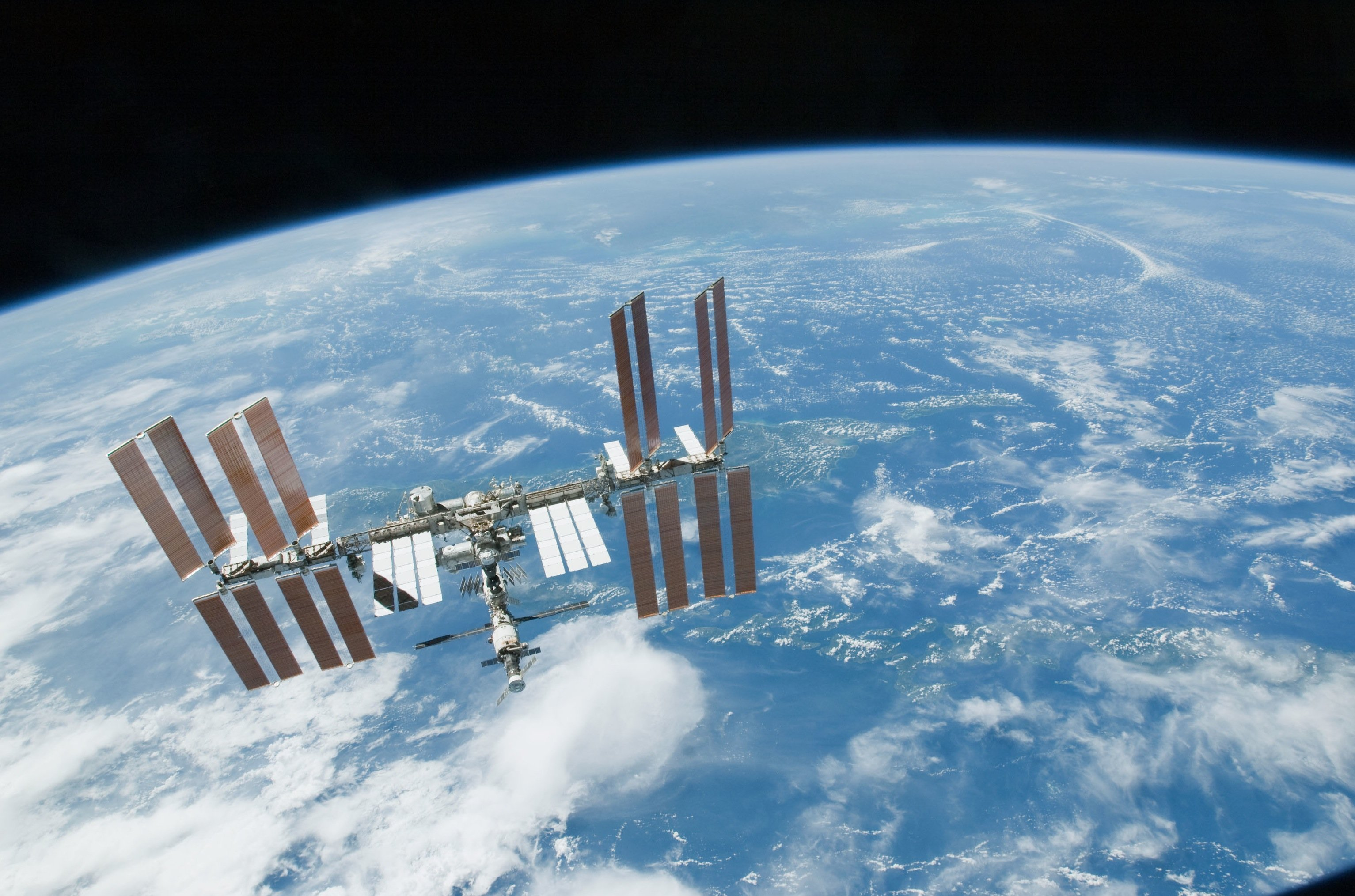 esa europe space ISS seen from Space Shuttle Endeavour wallpaper ...