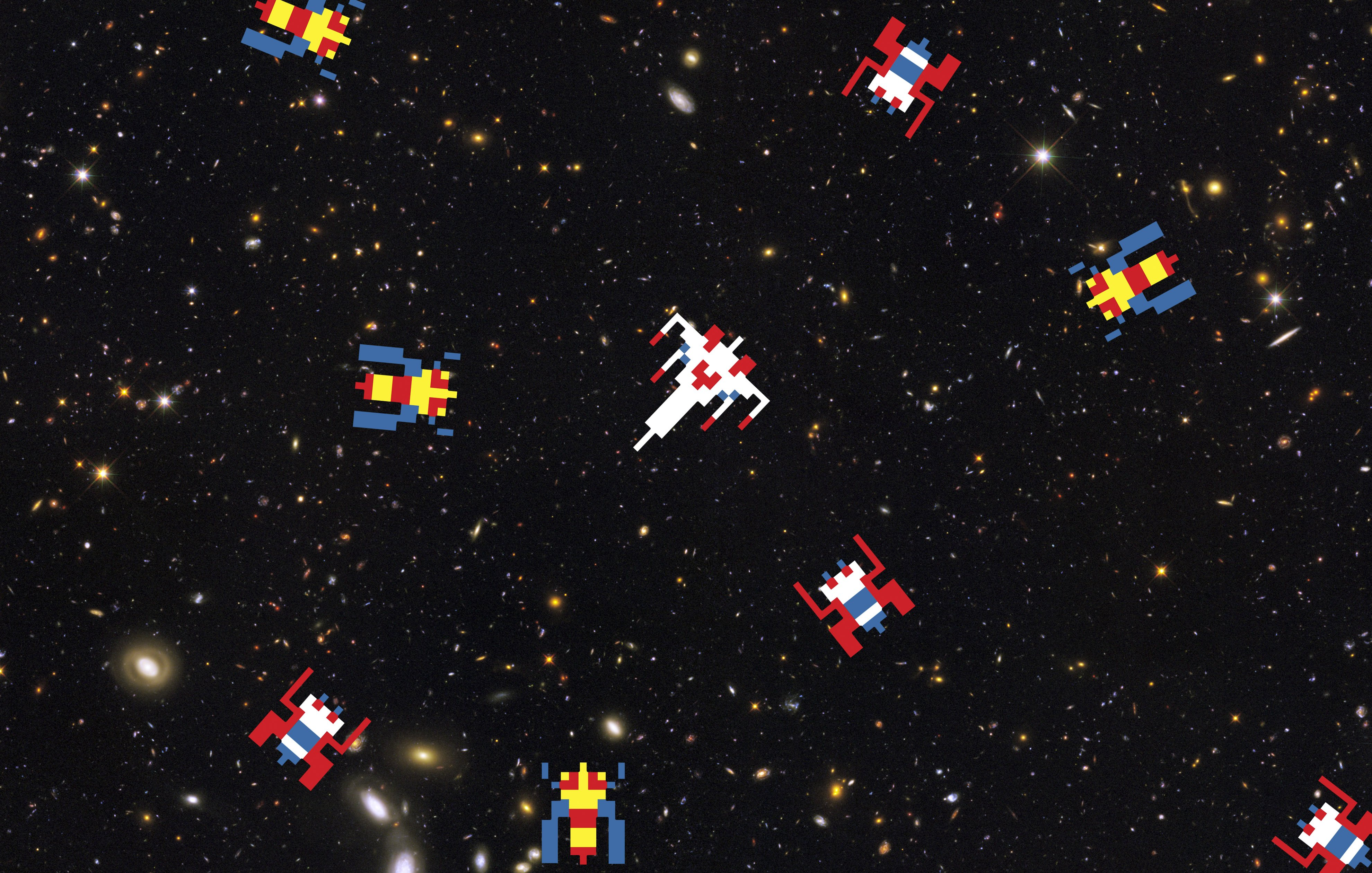 GALAGA sci fi arcade shooter spaceship action atari wallpaper 3960x2520