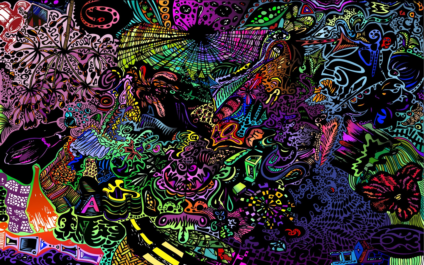 Abstract Psychedelic Wallpaper 1680x1050 Abstract Psychedelic 1680x1050