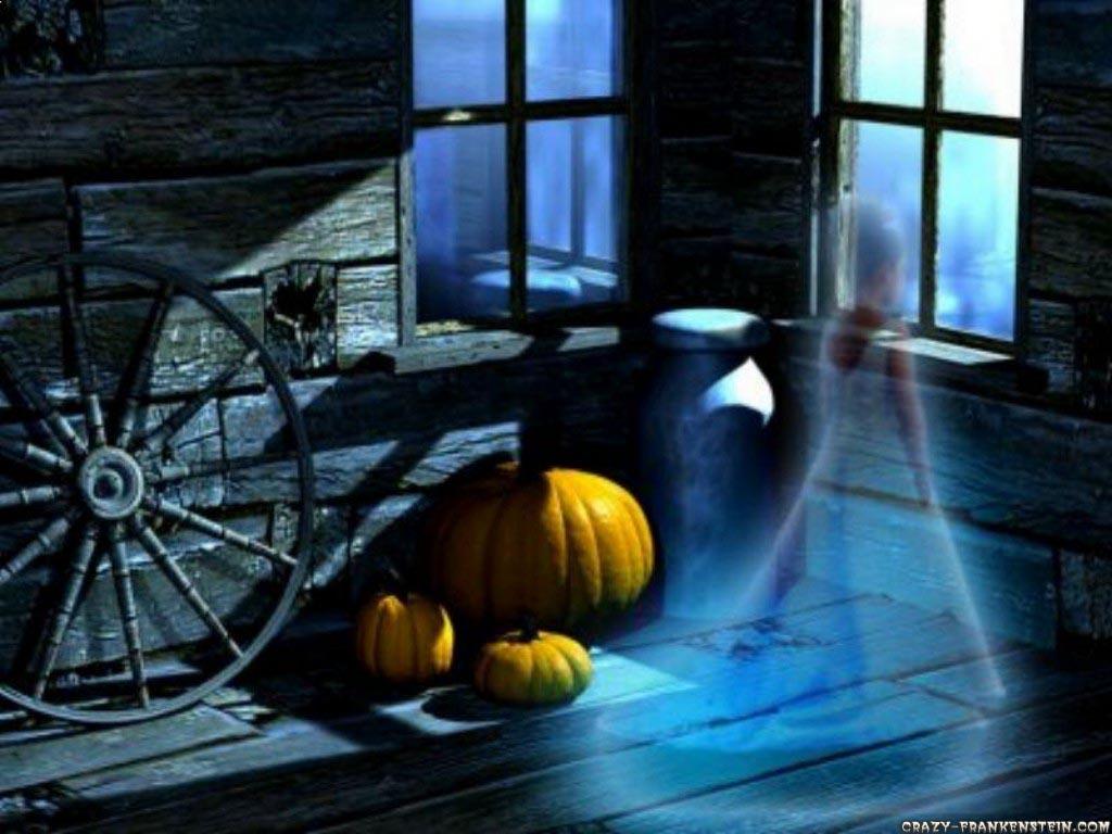 Wallpaper Child ghost encounter   Halloween wallpaper 1024x768