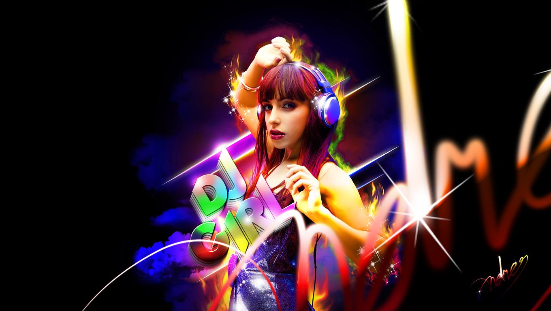 DJ GIRL by andreyinterruptor on deviantART 1360x768