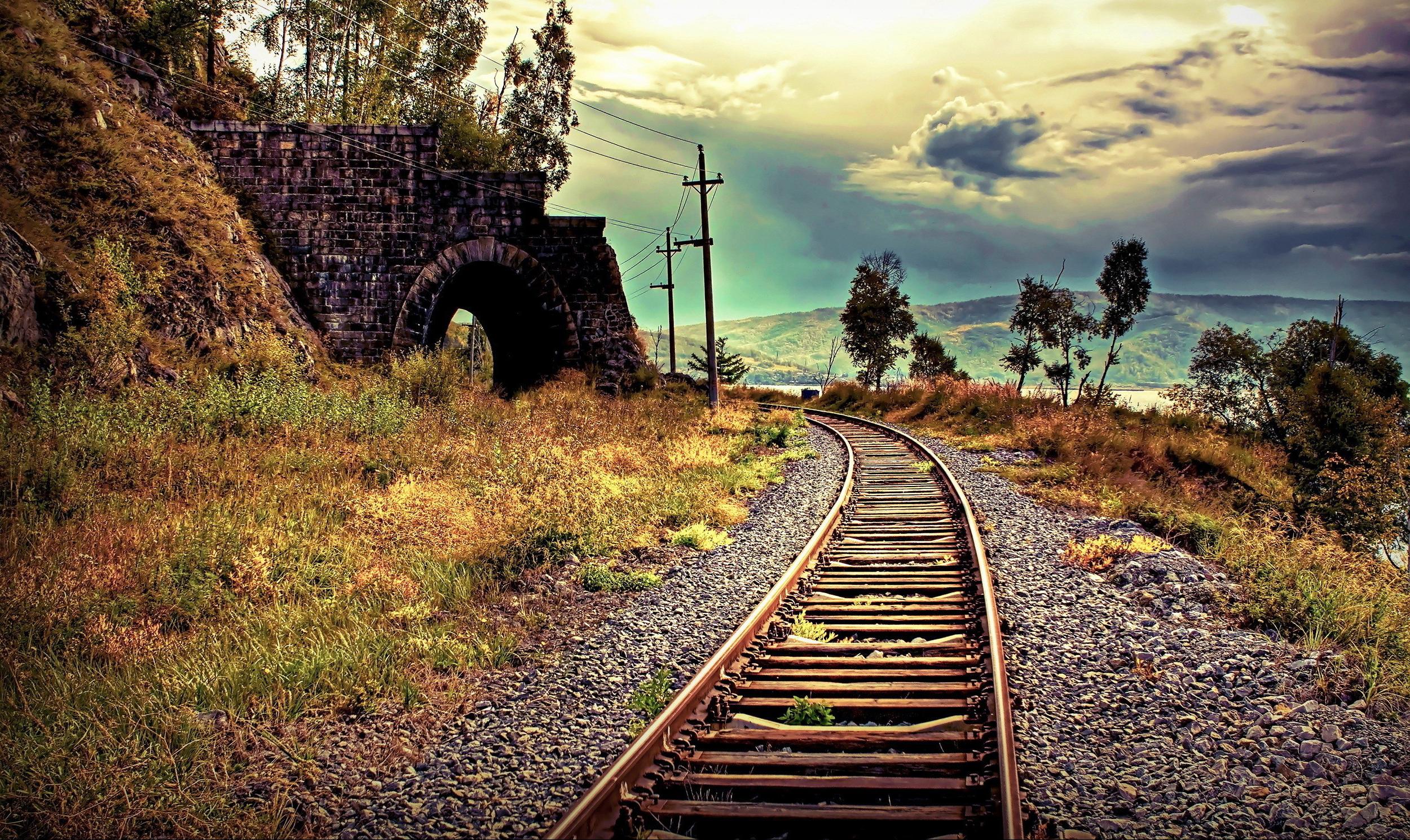 Tracks For Vehicles >> HD Train Tracks Wallpaper - WallpaperSafari