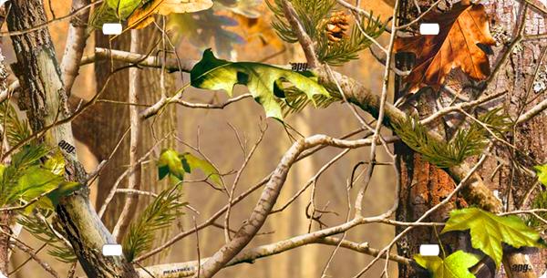 Realtree Orange Camo Patterns Real tree camo license plate 600x305
