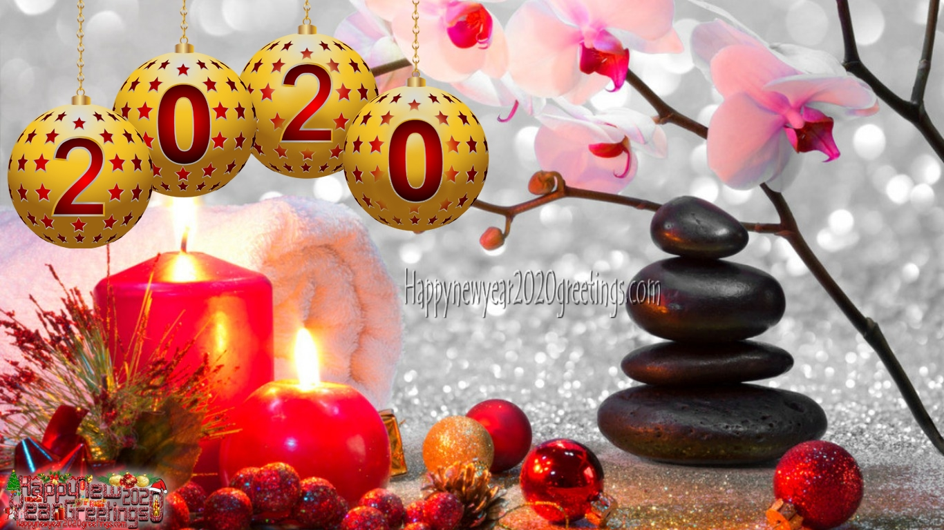 Happy New Year 2020 Images With Colorful Backgrounds Download 1366x768