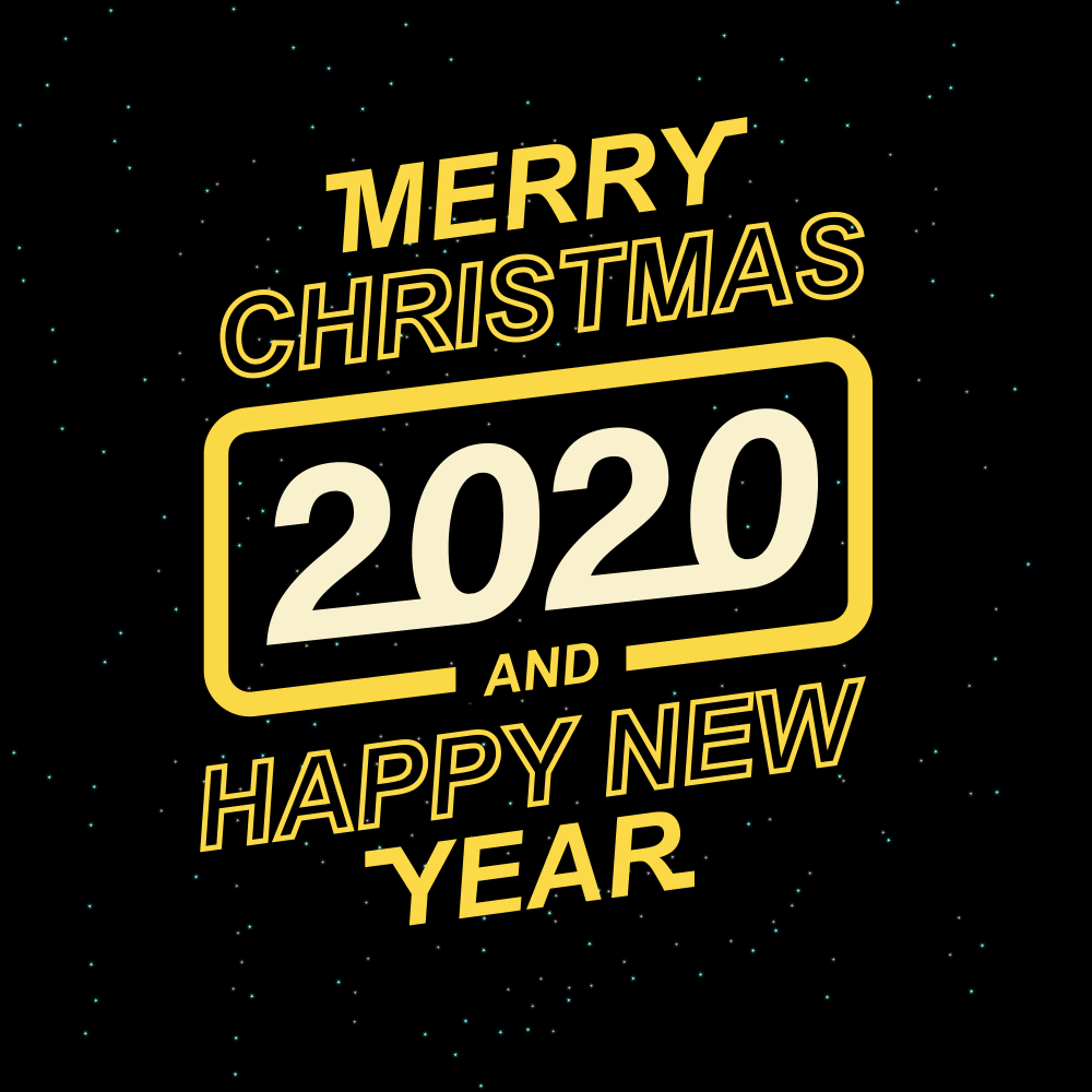 Merry Christmas And Happy New Year 2020 Wallpaper HD   Happy New 1000x1000