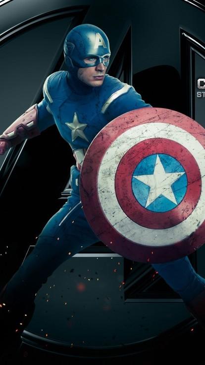Evans marvel steve rogers the avengers movie wallpaper 414x736