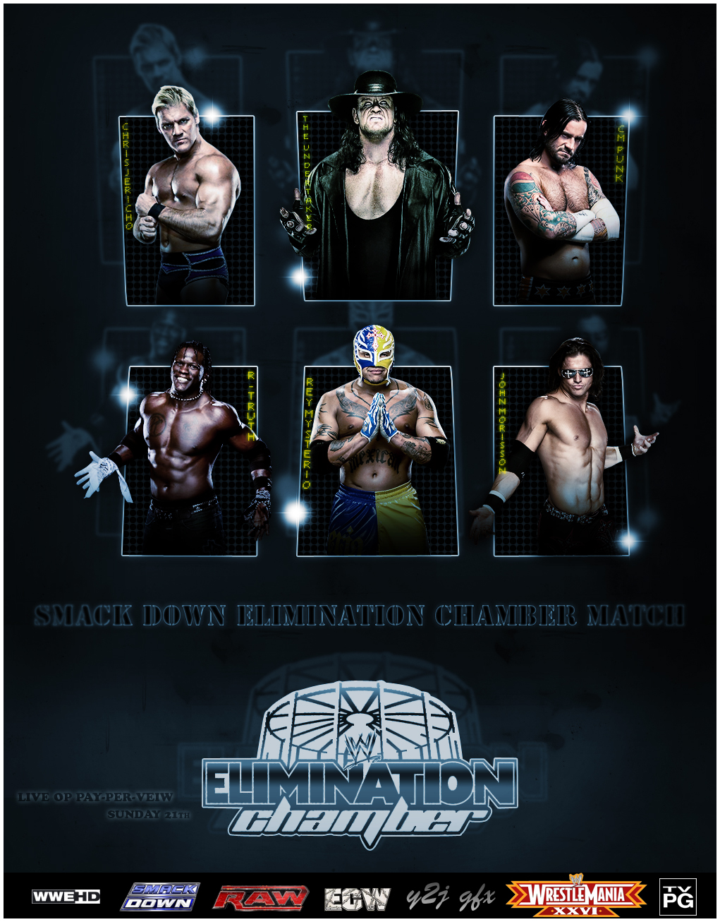 ELIMINATION CHAMBER Poster by Y2JGFX 1021x1306