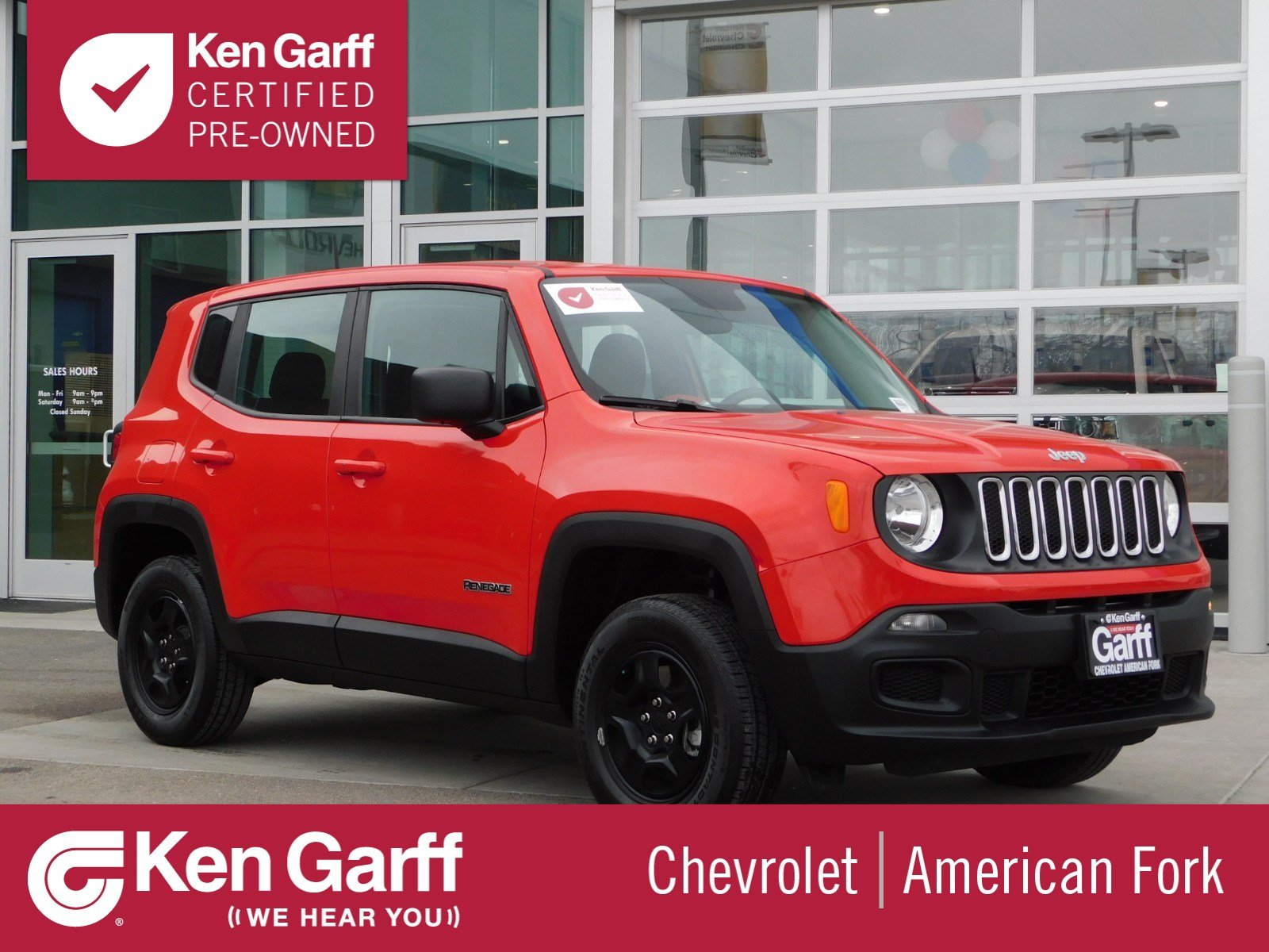 Certified Pre Owned 2017 Jeep Renegade Sport Sport Utility 1600x1200