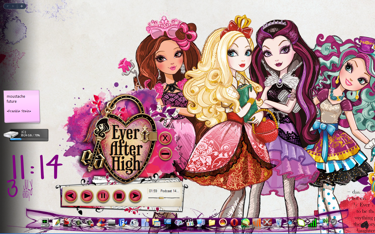 Ever After High Skin for Windows Media Player by HakureiKai on 1280x800
