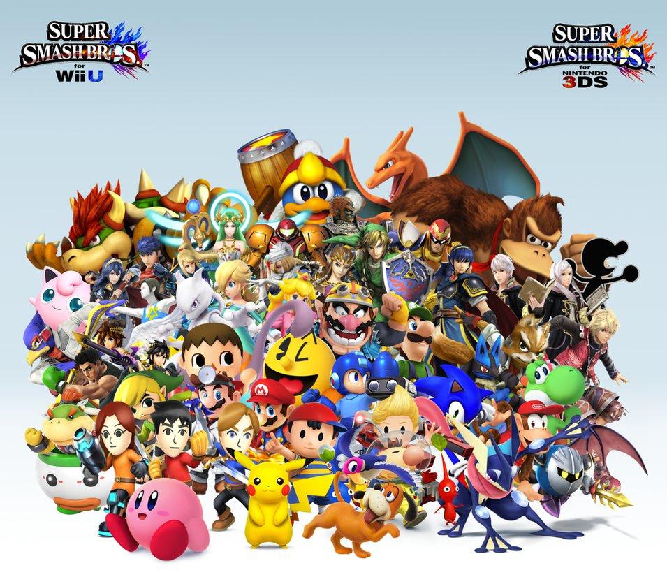 Super Smash Bros Wii U3DS Group Wallpaper v17 by CrossoverGamer on 955x836