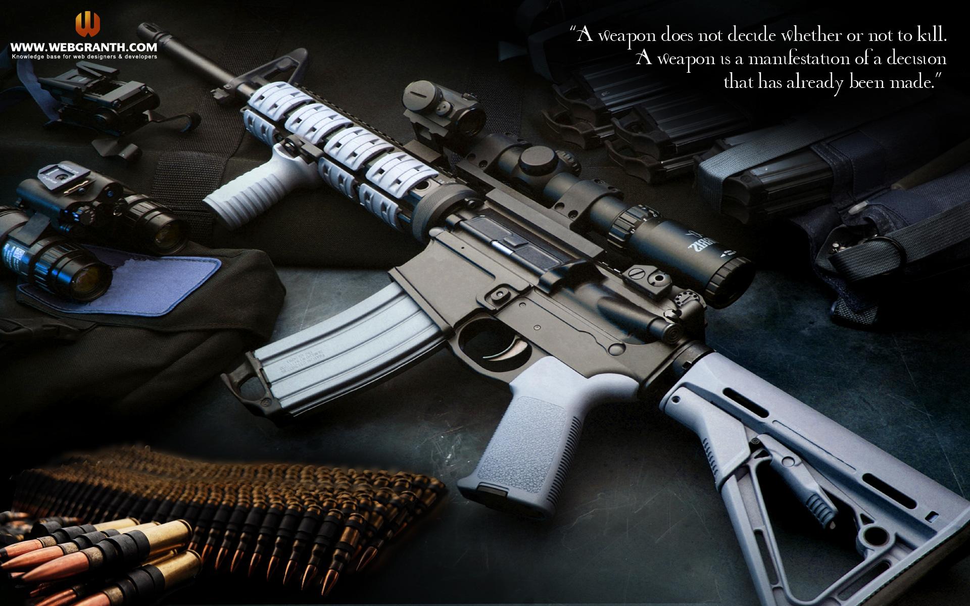 guns wallpaper desktop background